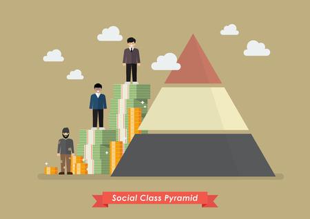 Sozialklassenpyramide. Vektor-Illustration