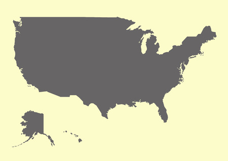 USA map vector illustration Illustration