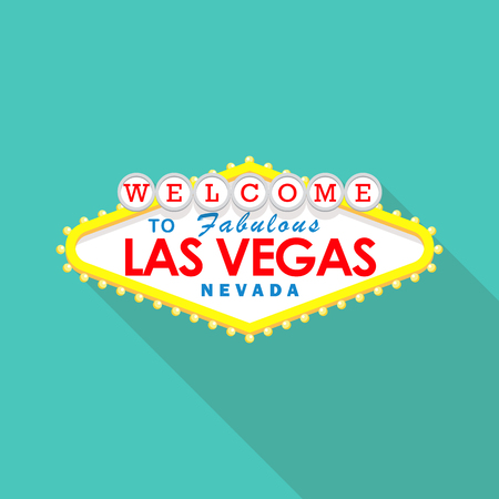 city lights: Classic retro Welcome to Las Vegas sign. Vector illustration