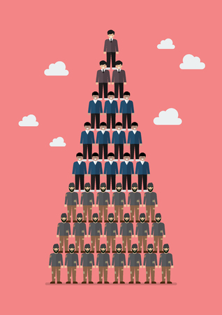 Pyramid of social class. Vector illustration  イラスト・ベクター素材
