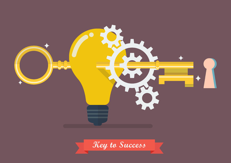 Creative idea key to success. Vector Illustration