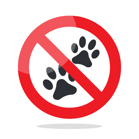 No animal sign. Prohibited sign for no dog or no animal, vector illustration.
