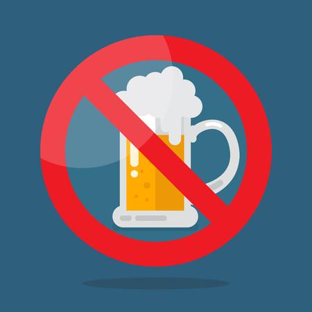 No beer symbol. Vector illustration