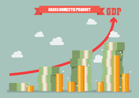 Gross domestic product. Economic growth concept.