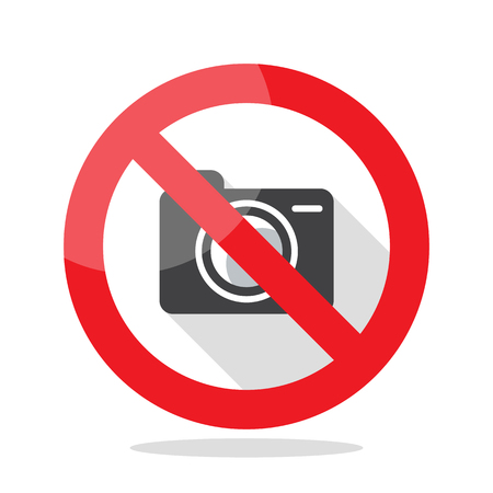 No Photo camera sign. Prohibited sign vector illustration Illustration