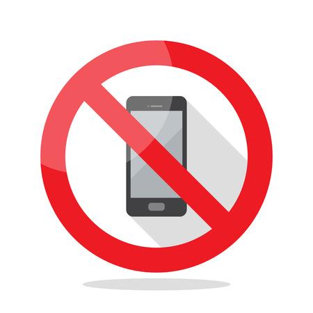 電話標識はありません。禁止記号ベクトルイラスト