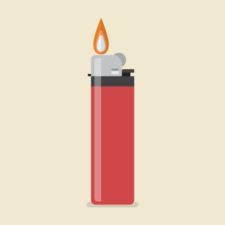 Lighter vector icon. Flat style vector Illustration