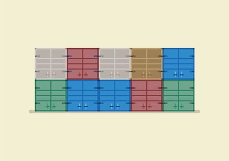 Cargo container vector illustration. Flat style design