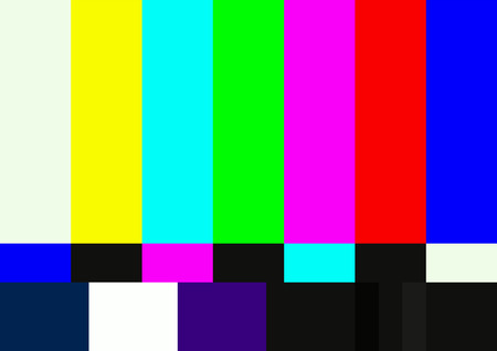Television color test pattern.