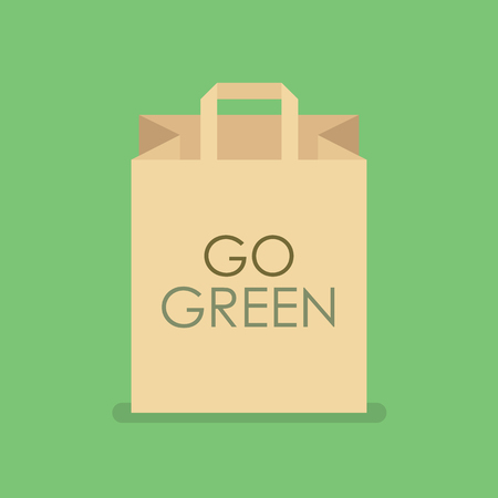 Eco friendly shopping bag. Vector illustration Illustration