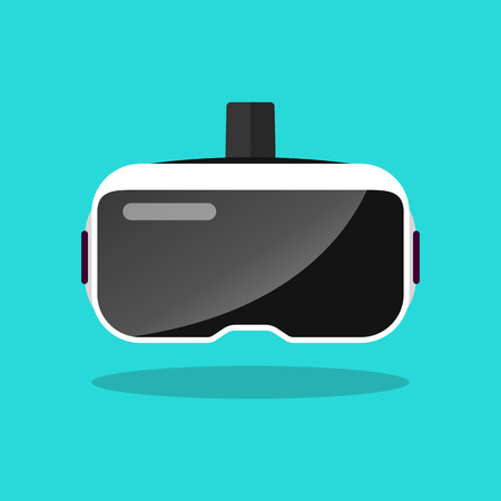 Virtual reality headset in flat style. Vector illustration