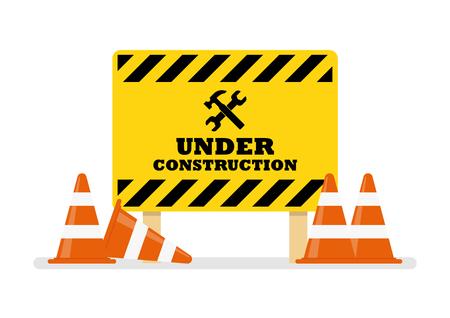 Under Construction Sign. Vector illustration Standard-Bild - 114806762