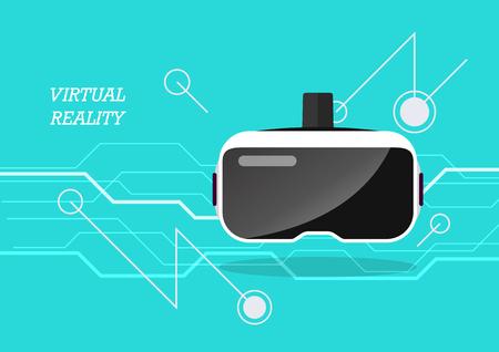 Virtual reality headset poster. Vector illustration Standard-Bild - 114806763