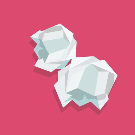 Crumpled paper ball. Vector illustration