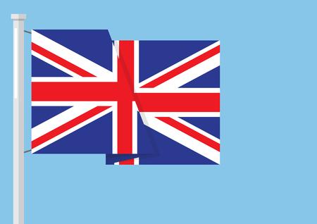 United kingdom flag with copyspace. Vector illustration Ilustrace