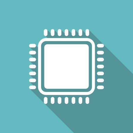 CPU Microprocessor vector illustration. Graphic design icon Standard-Bild - 110660649
