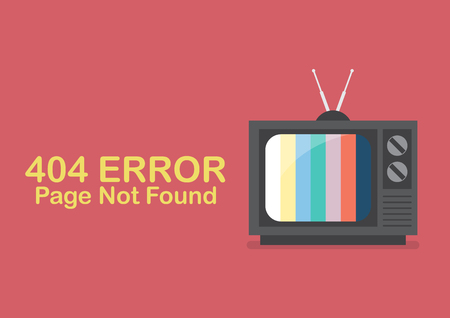 Retro Television with word Page not found. Vector illustration Standard-Bild - 112004572