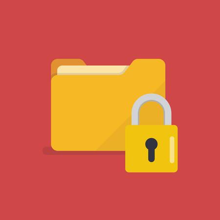 Lock folder icon. Malware concept Vector illustration Standard-Bild - 110660657