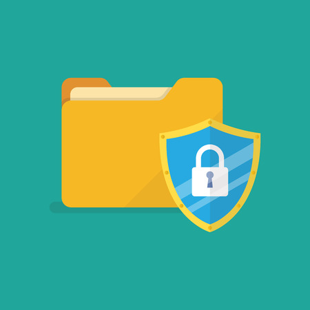 Data protection internet security. Vector illustration Standard-Bild - 110660658