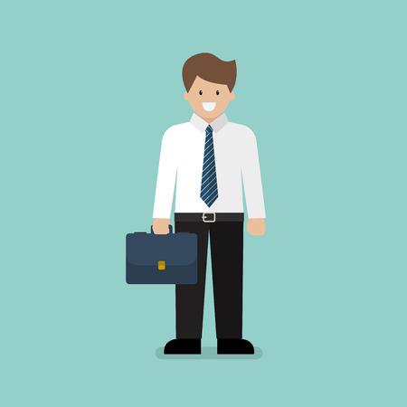 Businessman character cartoon. White collar worker in flat style Standard-Bild - 111654032