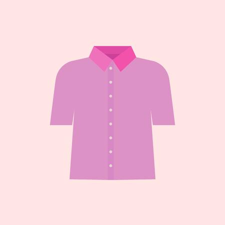 Pink shirt vector illustraton. Pink collar worker concept Standard-Bild - 111654034