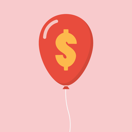 Dollar sign balloon. Business concept vector illustration