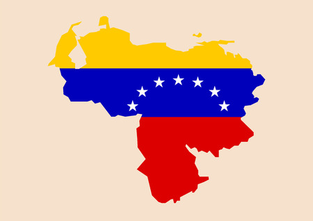Venezuela map with flag inside. vector illustration Standard-Bild - 110660670