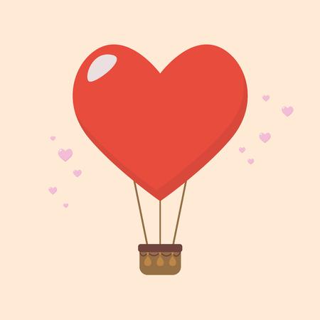 Big heart balloon. Vector illustration 向量圖像