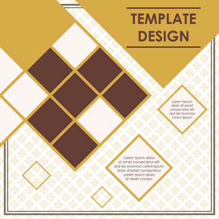 Rhombus pattern template poster design. business presentation template