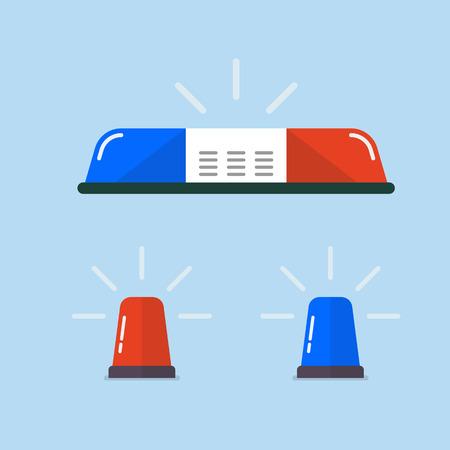 Police flasher or ambulance flasher set. Vector illustration Standard-Bild - 115665706