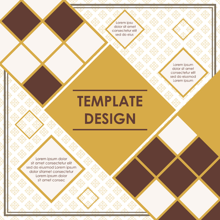 Rhombus template design. business presentation template