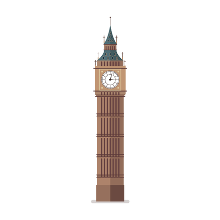 Big Ben vector illustration. Flat style design