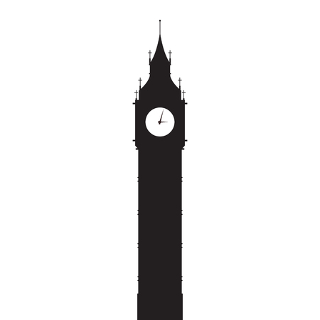 Big Ben vector silhouette. Vector illustration 일러스트