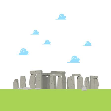 Stonehenge in flat style. Vector illustration