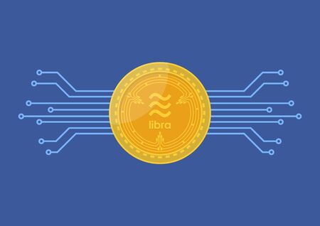 Libra digital currency. vector illustration 向量圖像