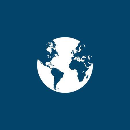 Earth globe icon vector illustration. graphic design