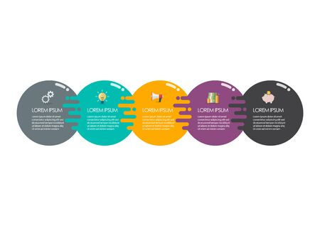 Circle infographic template. Vector illustration 向量圖像