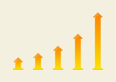 Growing up arrow chart. Vector illustration 向量圖像