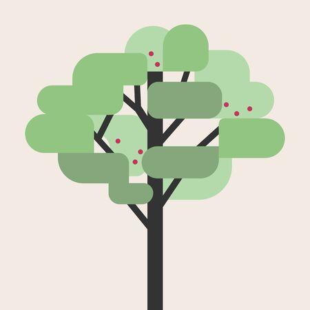 Tree flat style vector illustration