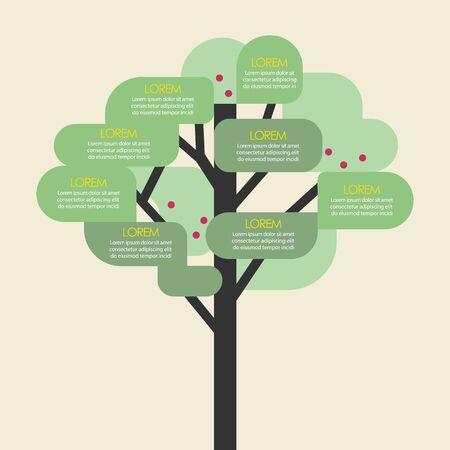 Tree infographic template. Vector illustration 向量圖像