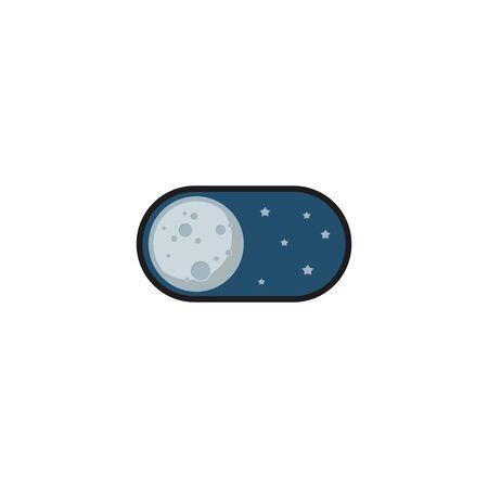 Night mode application icon. Vector illustration 向量圖像