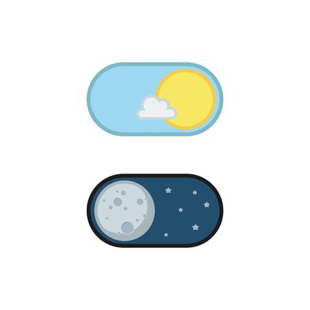Day and night mode application icons. Vector illustration