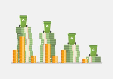 Waste management budget infographic. Vector illustration