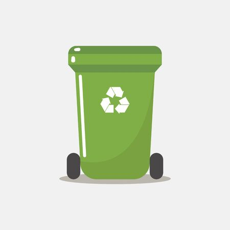 Recycle bin flat style. Vector illustration