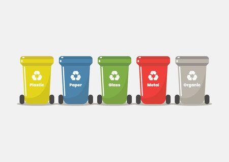 Recycle bin flat style. Vector illustration 版權商用圖片 - 132078622