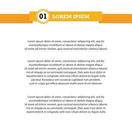 Document template with ribbon headline. Vector illustration 向量圖像