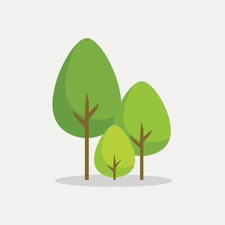 Trees in flat style. Vector illustration 版權商用圖片 - 133321402