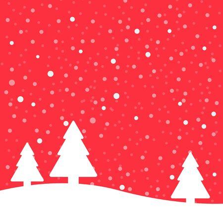 Christmas poster winter background. Vector illustration