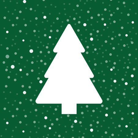 Christmas tree poster. Vector illustration