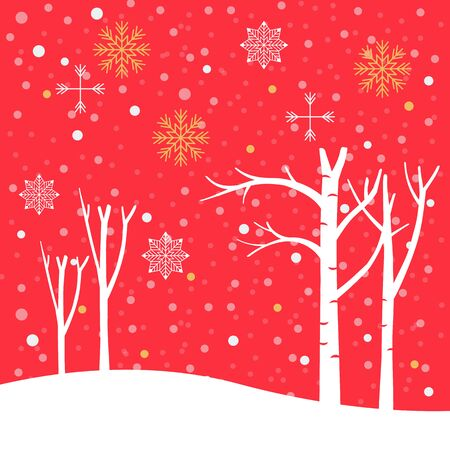 Christmas poster winter background. Vector illustration 版權商用圖片 - 134584978